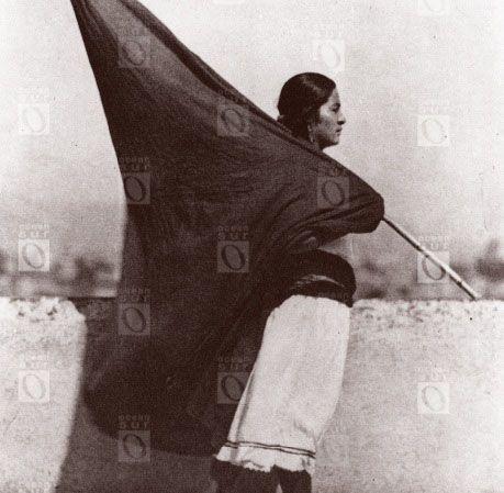 Mujer con bandera, Ciudad de México, 1928.