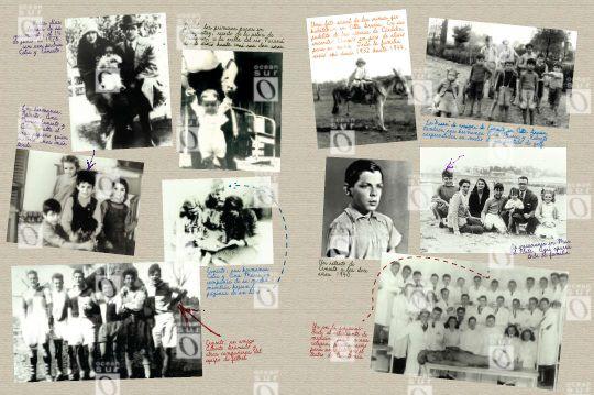 Pliego a dos páginas correspondiente a la infancia y juventud de Ernesto