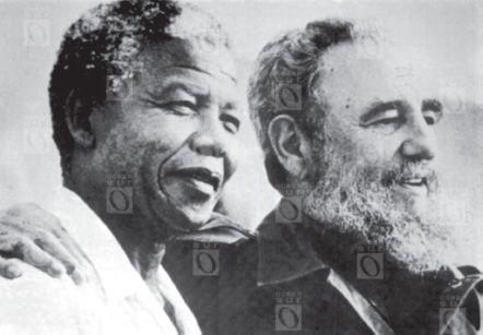 Nelson Mandela y Fidel Castro, 26 de julio de 1991, Cuba.