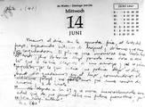 Una página del diario del Che Guevara. El día de su cumpleaños y de su hija Celia