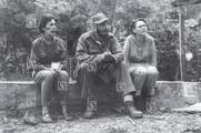 Celia Sánchez, Fidel Castro y Haydée Santamaría en la Sierra Maestra.