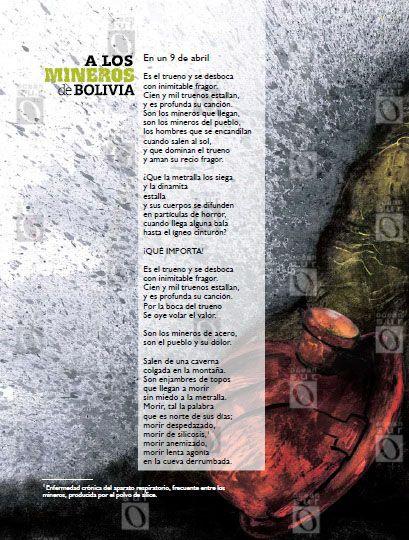 """""""A los mineros de Bolivia"""", poema escrito por el joven Ernesto durante sus viajes por América Latina"""