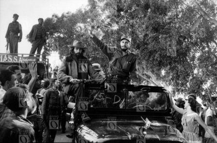 Caravana de la Libertad, enero de 1959. Fotografía © Oficina de Asuntos Históricos del Consejo de Estado, Cuba.