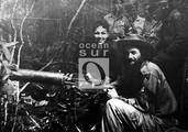 Camilo Cienfuegos y Lolita Rosell en Jobo Rosado, Yaguajay