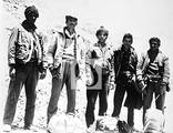 Foto de los sobrevivientes llegando a Chile