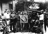 Combatientes de la Columna 8: Rogelio Acevedo, José R. Silva, el médico Oscar Fernández Mell...