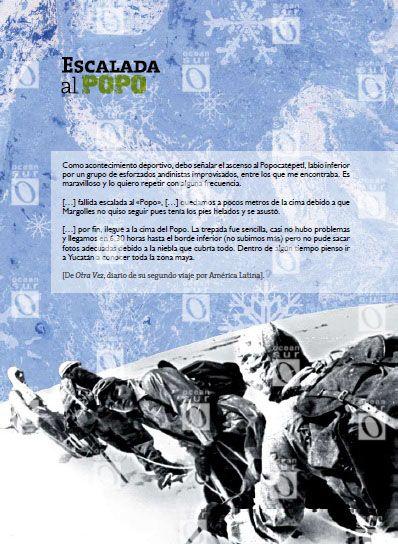 """""""Escalada al Popo"""", con fragmentos del libro Otra vez, diario del segundo viaje de Ernesto Guevara por América Latina"""