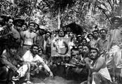 Un grupo de alumnos en la Escuela de Reclutas, Caballete de Casa, Escambray, 1958
