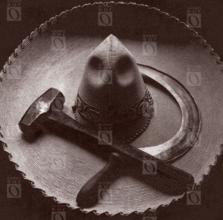 Sombrero mexicano con hoz y martillo, 1927