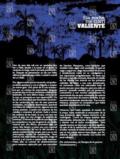 """""""Esa noche me sentí valiente"""", fragmentos del libro Pasajes de la guerra revolucionaria"""
