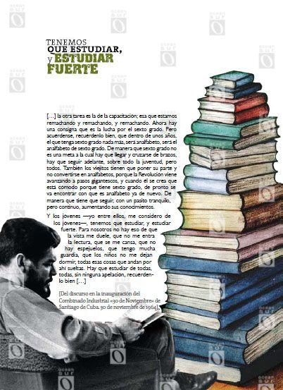 """""""Tenemos que estudiar, y estudiar fuerte"""", discurso en la inauguración del Combinado Industrial «30 de Noviembre» de Santiago de Cuba; 30 de noviembre de 1964."""