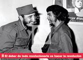 """Afiche de Ocean Sur. """"El deber de todo revolucionario..."""""""