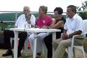 Presentación del libro «Vilma Espín» en la plaza Frank País