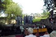 Acto cultural durante la presentación en la casa de altos estudios de Santiago