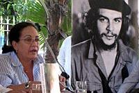 Arleen Rodríguez presenta el libro «América Latina hoy...» en la sede de la OSPAAAL, La Habana, octubre de 2009