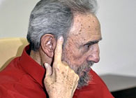 Fidel Castro, durante la entrevista de Carmen Lira, en agosto de 2010