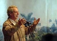 Frei Betto durante la celebración por los 25 años de su libro «Fidel y la religión»