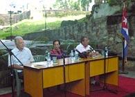 Una de las presentaciones del libro «Vilma Espín. La flor más universal de la Revolución Cubana» (Ocean Sur, 2010) en Santiago de Cuba