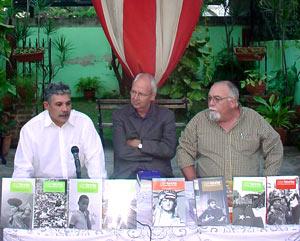 Edwin González, David Deutschmann y Roberto Regalado